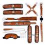 НАБОР (маска, ошейник, кляп, фиксатор, наручники, оковы, плеть) цвет коричневый арт. NTU-80498